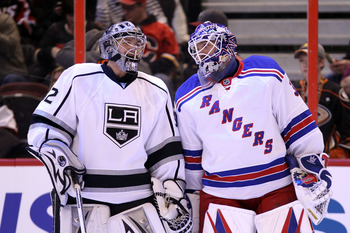 Quick and Lundqvist posted virtually identical numbers in goals against and save percentage.