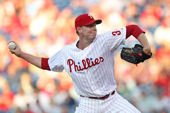 Roy Halladay will miss 6-8 weeks with a lat injury.