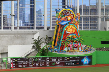 Marlins Park is new this season