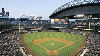 Safeco Field has the charm in its Sodo location (http://scarletpinstripesonsports.wordpress.com/2011/07/12/safeco-field-seattle-mariners/)