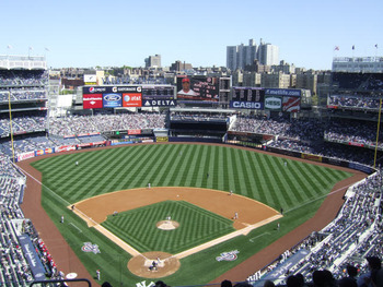 The new Yankee Stadium has taken over New York (http://www.ballparksofbaseball.com/al/YankeeStadium.htm)