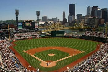 PNC Park sits right on the Allegheny River (http://jdbaseball.com/pictures/pittsburgh-pirates/pnc-park.htm)