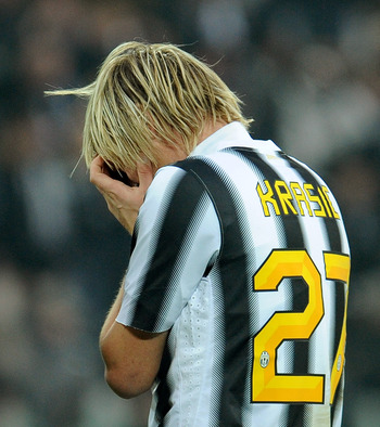 Krasic: An inconsolable figure at Juventus