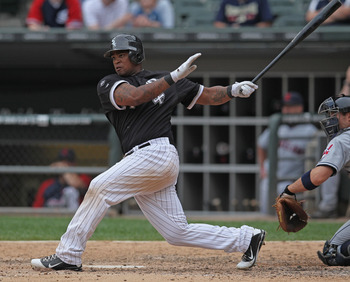 White Sox left fielder Dayn Viciedo