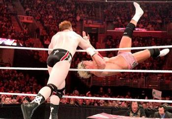 The Great White vs. The Show Off on Raw in March. (Image from MyLatestDistraction.com)