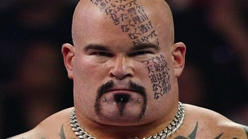 Tensai gets his second match with the face of the WWE. (Image courtesy of BellyBillboard.com)