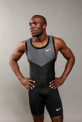DALLAS, TX - MAY 14:  Track athlete, Lashawn Merritt, poses for a portrait during the 2012 Team USA Media Summit on May 14, 2012 in Dallas, Texas.  (Photo by Nick Laham/Getty Images)
