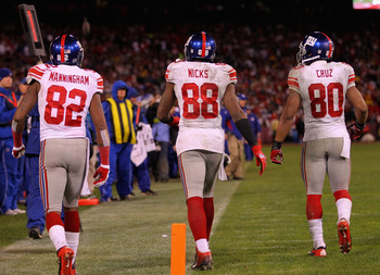 It was Victor Cruz, not Mario Manningham who ended up as the No. 2 WR for Eli Manning and the Giants