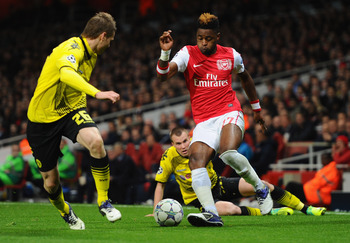 Alex Song on his Lionel Messi-esque run against Dortmund