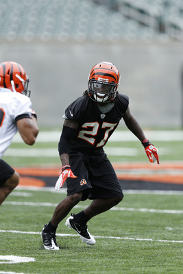 CINCINNATI, OH - MAY 12: Dre Kirkpatrick #27 of the Cincinnati Bengals works out during a rookie minicamp at Paul Brown Stadium on May 12, 2012 in Cincinnati, Ohio. (Photo by Joe Robbins/Getty Images)