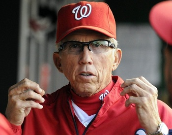 Can Davey Johnson keep the Nationals in first place in the NL East? (Brad Mills-US PRESSWIRE)