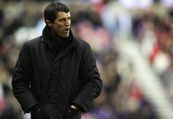 SUNDERLAND, UNITED KINGDOM - DECEMBER 26:  Roy Keane, manager of Sunderland looks on during the Barclays Premier League match between Sunderland and Manchester United at the Stadium of Light on December 26, 2007 in Sunderland, England.  (Photo by Matthew 