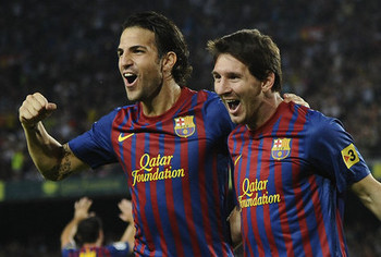 Is Fabregas's success dependent on Messi?