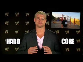 Ziggler hosting WWE Download. Photo from WWE-Videos.com