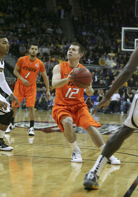 KANSAS CITY, MO - MARCH 08:  Keiton Page #12 of the Oklahoma State Cowboys looks to shoot against Missouri Tigers during the quarterfinals of the Big 12 Basketball Tournament March 8, 2012 at Sprint Center in Kansas City, Missouri. (Photo by Ed Zurga/Gett