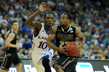 Jackson charges past Tyshawn Taylor in the 2012 tournament.