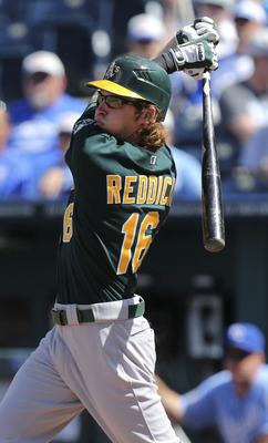Reddick has turned heads as the A's best bat this year.