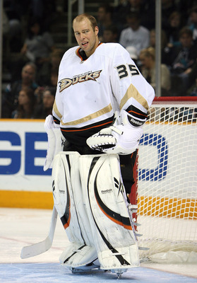 Jean-Sebastien Giguere during his time in Anaheim