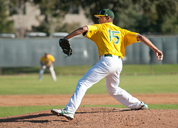 Cal Poly Pomona pitcher Geoff Broussard was taken by the Phillies in the 23rd round. Photo courtesy polycentric.csupomona.edu