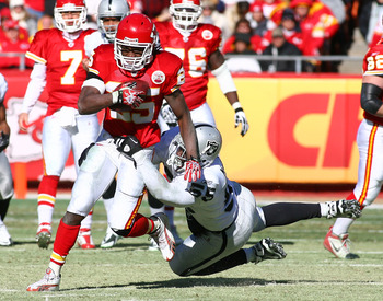 Jamaal Charles is back after a season-ending injury last year.  Will he be able to contribute to a team oriented to run the ball?