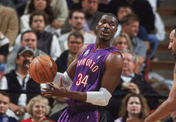 Yes, that's Hakeem Olajuwon in a Raptors' uniform.