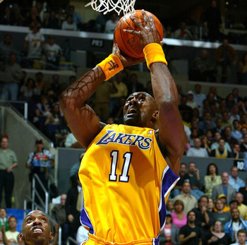 "The ""Mailman"" as a member of the Lakers."