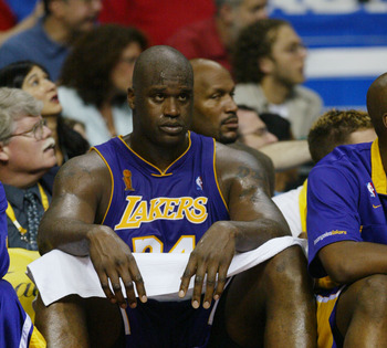 Shaq during his days as a Laker.