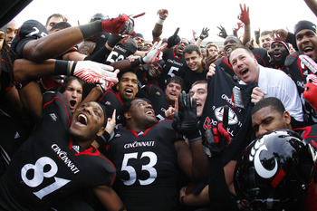 The Bearcats may have to hold back on celebrating in 2012
