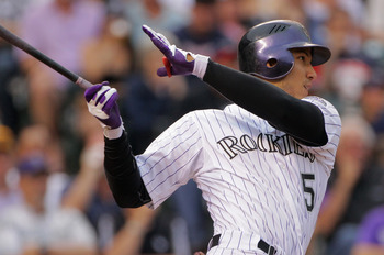 Rockies outfielder Carlos Gonzalez is rocketing up the NL batting leaderboards.