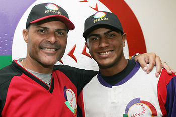 Jose Valentin's son, Jesmuel, was drafted in the first round by the Los Angeles Dodgers; Photo via MLB.com