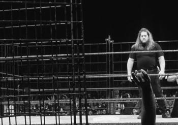 Big Show made his debut for WWE in a steel cage match. Courtesy: WWE.com