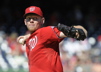Stephen Strasburg shut out the Braves for seven innings last Saturday.