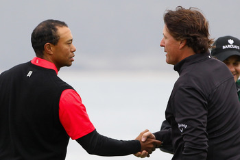 Phil beat Tiger by 11 shots at Pebble Beach