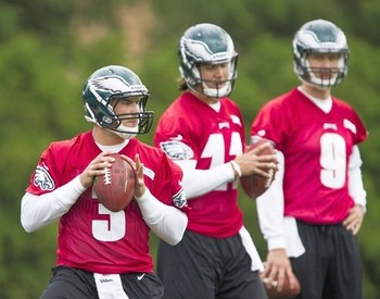 Kafka (3), Edwards (11), and Foles (9) are all competing for the #2 job.