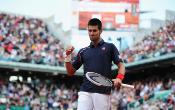 The challenger Novak Djokovic