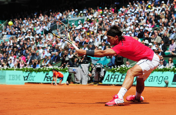 "The ""King of Clay"" at full stretch"