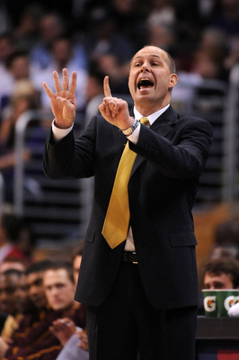 "Sendek: ""One finger for each NCAA trip since Reagan was elected."""