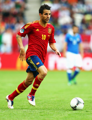 Spain's goalscorer against Italy, Cesc Fabregas