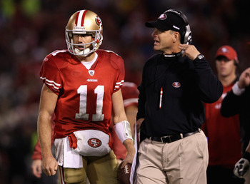 Alex Smith and Jim Harbaugh have a great working relationship.