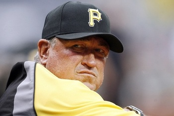 Don't look now, but Clint Hurdle has the Pittsburgh Pirates in first place. (Charles LeClaire-US PRESSWIRE)