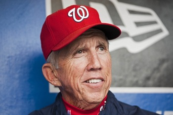 Davey Johnson has plenty to smile about, with the Nationals having the second-best record in baseball. (Howard Smith-US PRESSWIRE)
