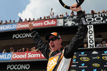 Joey Logano took the victory at Pocono