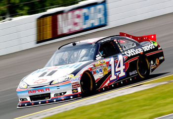 Tony Stewart earned a third-place finish at Pocono