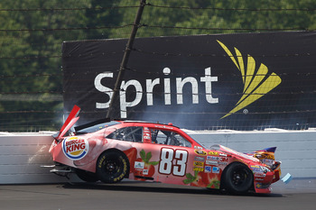 Landon Cassill did not complete a lap at Pocono
