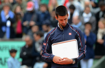 Losing finalist Novak Djokovic