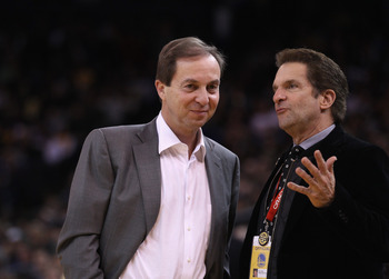 Warriors' owners Joe Lacob (left) and Peter Guber (right).