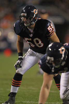 Bears second-year backup middle linebacker Dom DeCicco.