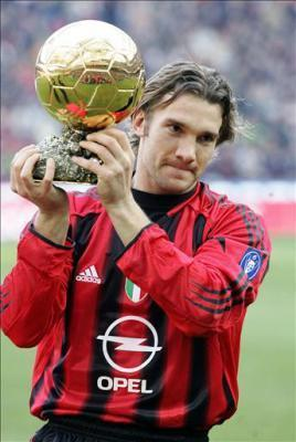 Shevchenko holding the 2004 Ballon d'Or or Golden Ball