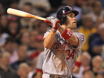 Bryce Harper had an impressive Fenway Park debut with a home run and three RBI.