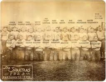 Portsmouth Spartans 1929 Team Photo